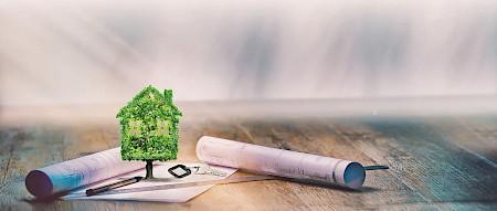 Die Ziele des nachhaltigen Bauens liegen in der Minimierung des Verbrauchs von Energie und Ressourcen.